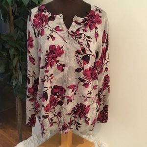 Croft and Barrow floral cardigan 1x gently used